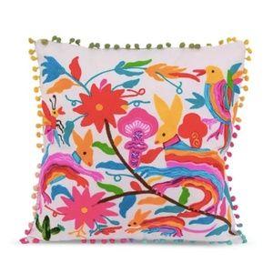 Karma Living Bunny Wildlife Embroidered pillow